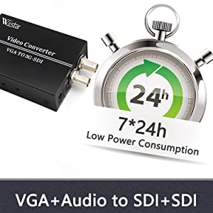 vga with 3.5mm audio to sdi converter