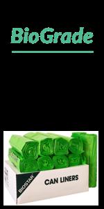 Reli. Biodegradable Trash Bags, 40-45 Gallon (Wholesale 250 Count) (Green)