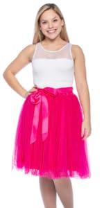 hot pink tutu, tutu for women, pink tutu for women, knee length tutu