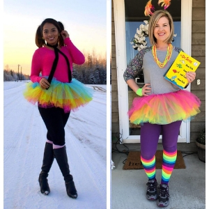 rainbow tutu, running tutu, rainbow tutu for women