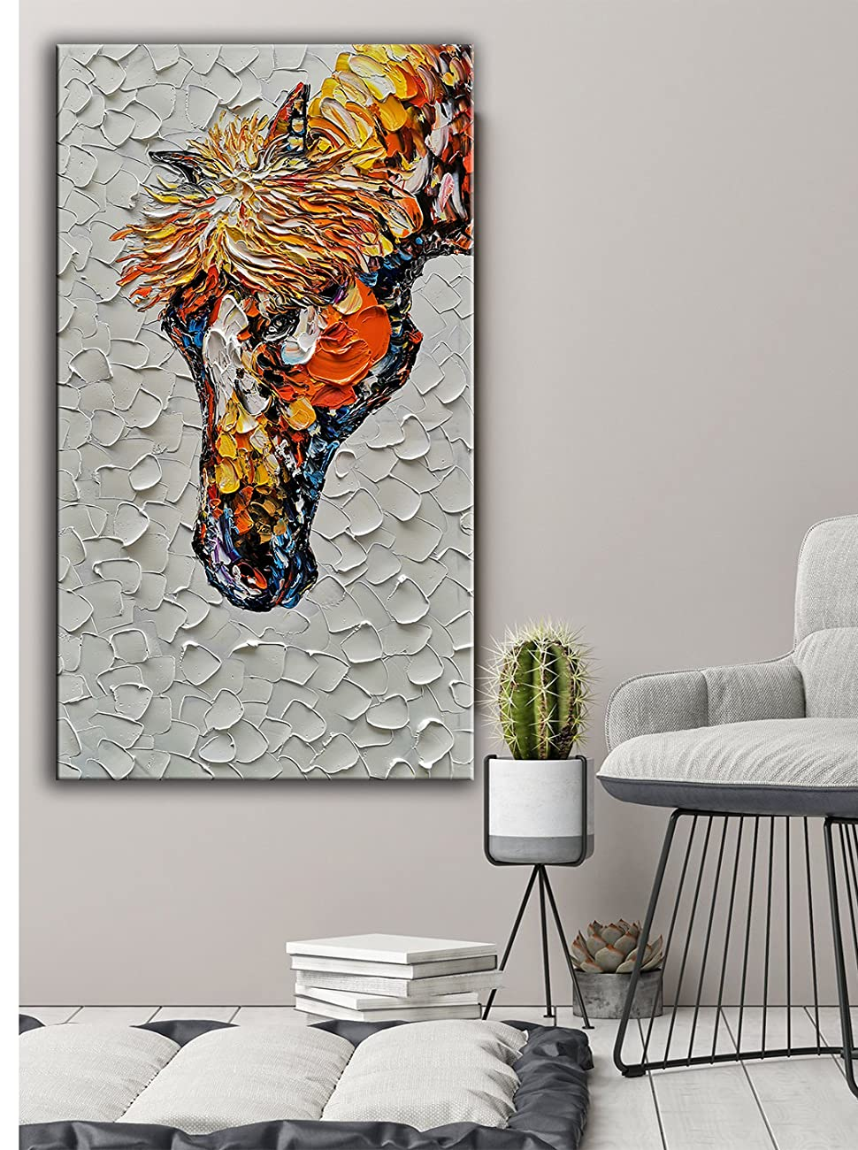 60x120cm Modern Horse Canvas Print Painting Wall Home Room Xmas Decor Unframed