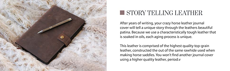 Story telling leather journal cover that is perfect for sketching drawings study notes or school