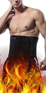 man sweat belt
