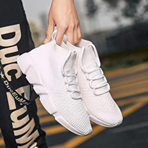 Fashion Knit Walking Shoes Comfort Lightweight Breathable Gym Workout Tennis Shoe for Men