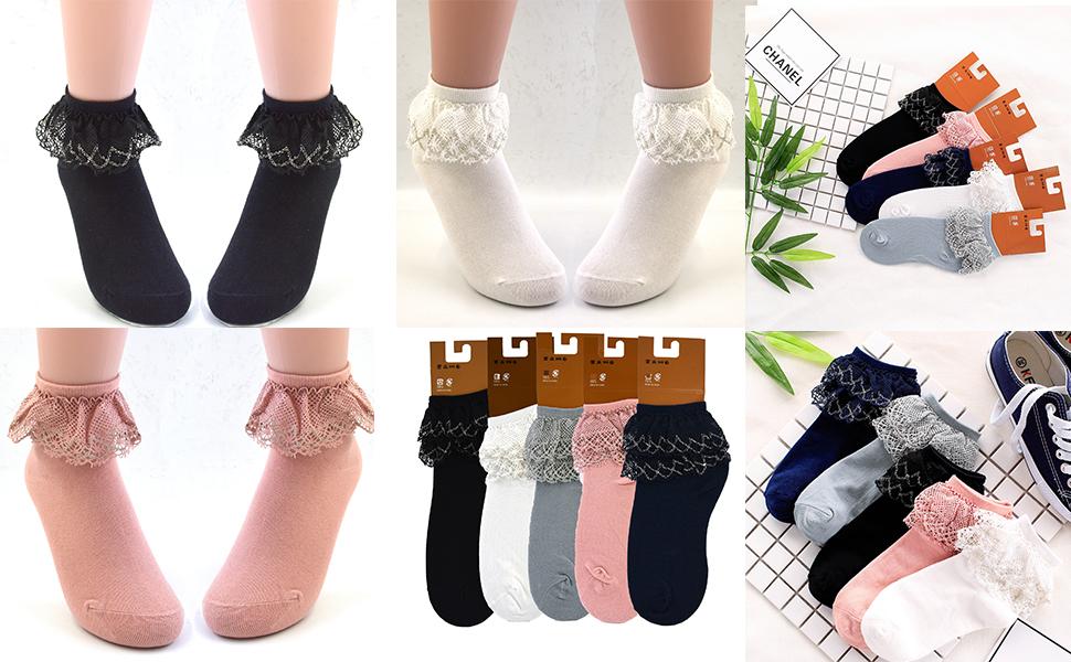 ruffles socks women