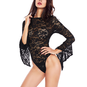 This open back lace bodysuit is an ideal Anniversary, Birthday, Valentine's day gift for your wife