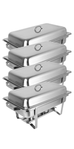 ROVSUN 8 Qt 4 Pack Chafing Dishes