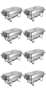 8qt 8pack chafing dishes