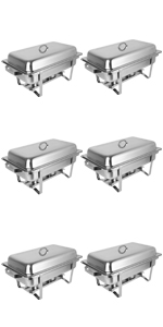 8qt 6pack chafing dishes