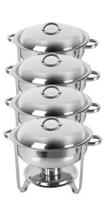 5qt 4pack chafing dishes
