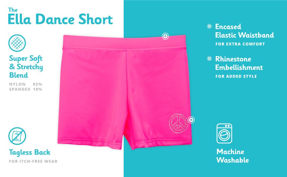 ella dance shorts girls features