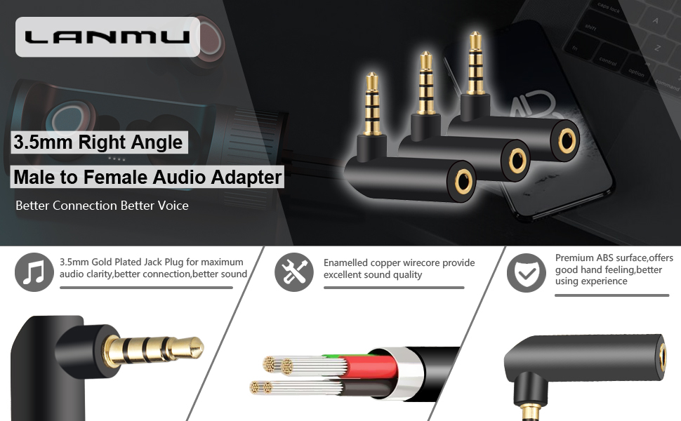 3.5mm right angle AUX adapter
