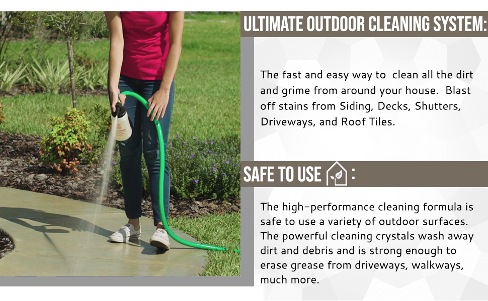 Outdoor cleaner concentrate is the ultimate outdoor cleaning system which is safe to use