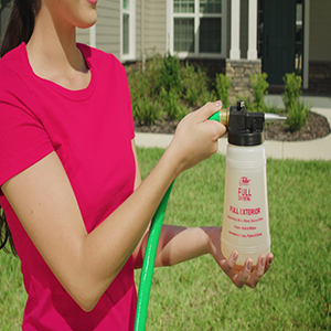 Window cleaner for outdoors is safe to use around shrubs, lawns and plants