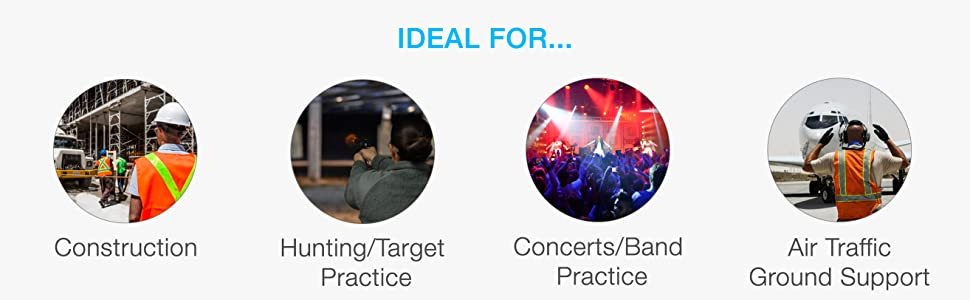 construction, hunting, target practice, concert, band practice, air traffic, ground support