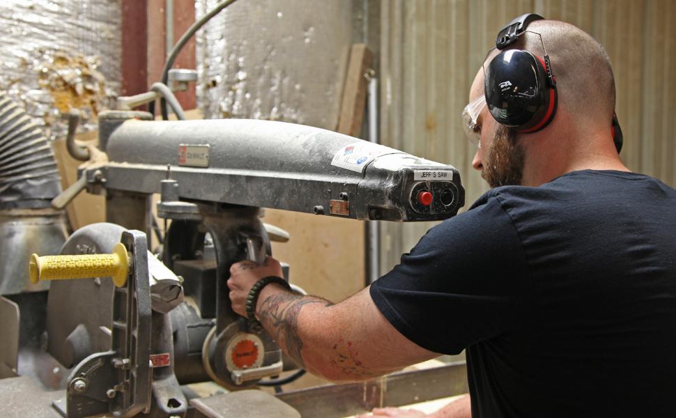 workshop, woodshop, noise suppression, safety, ear muffs