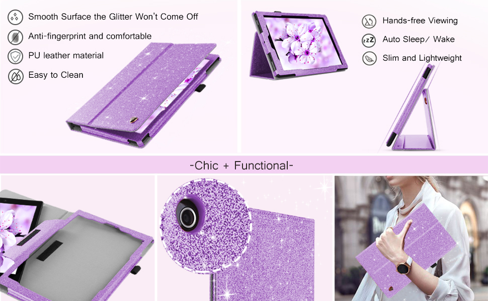 purple tablet kickstand case