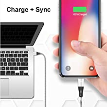 2in1 Charge and Data Sync: