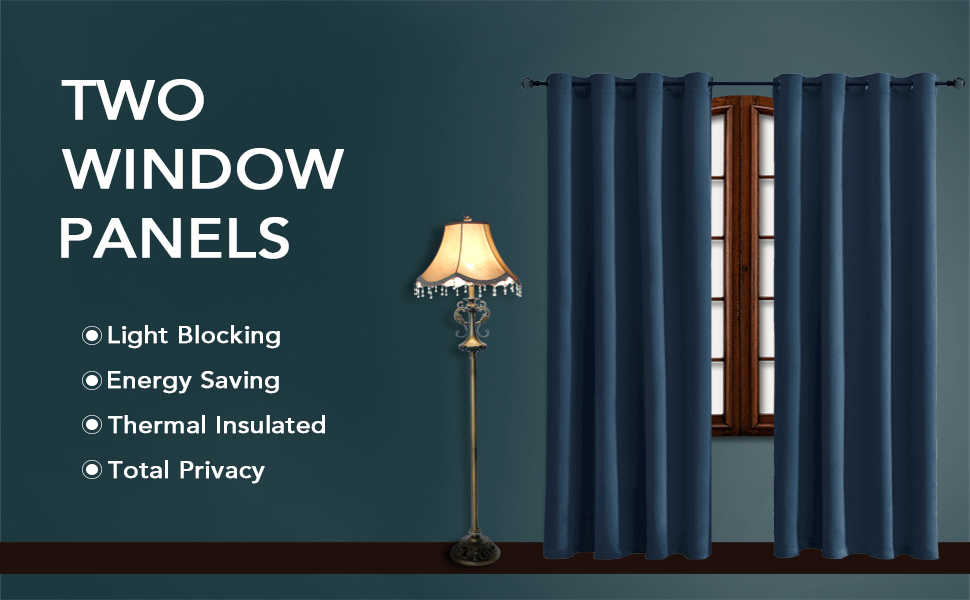 Thermal Insulated Blackout Curtains For Bedroom And Living Room