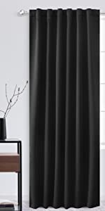 black room darkening curtains rod packet and back tab