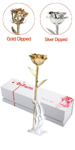 DeFaith 24K Gold Dipped Rose