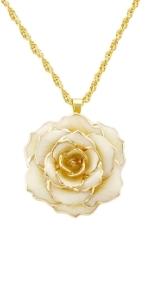 24k gold rose necklace