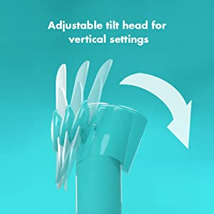 USB Desk Fan - Mini Portable Fan with Adjustable Tilting Head