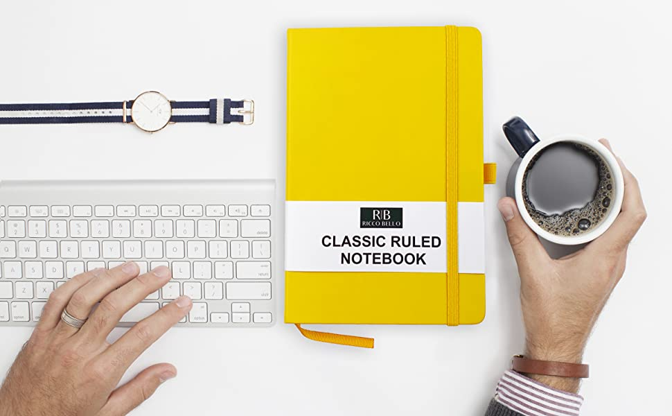 RICCO BELLO Classic Ruled Notebook in Yellow