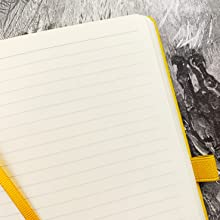 RICCO BELLO Classic Ruled Notebook in Yellow Inner Pages