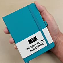 pocket size to do list notebook ricco bello teal