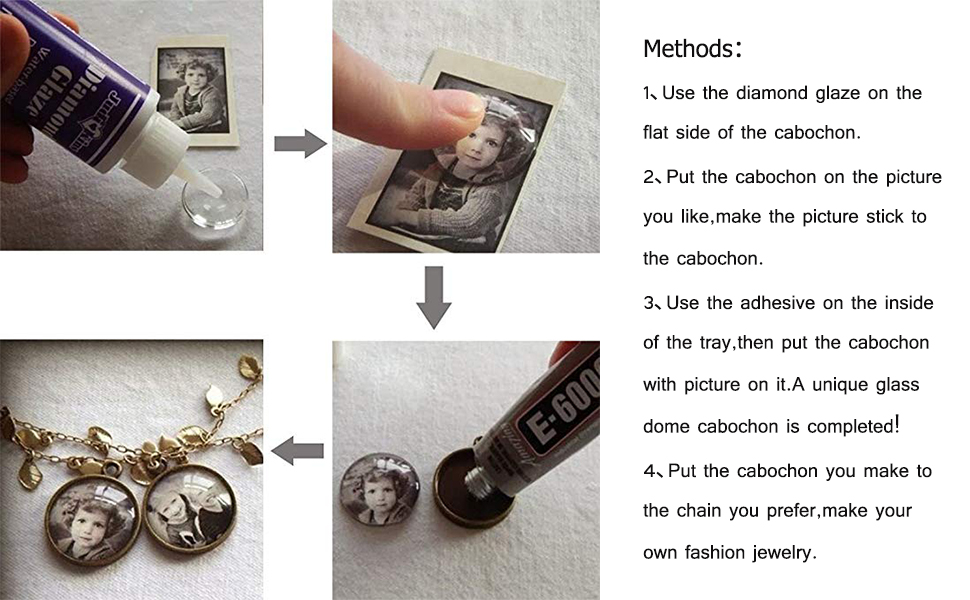 Methods to use the cabochons