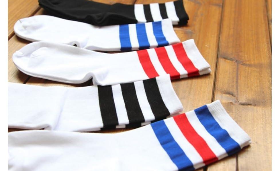mid-calf crew tube socks