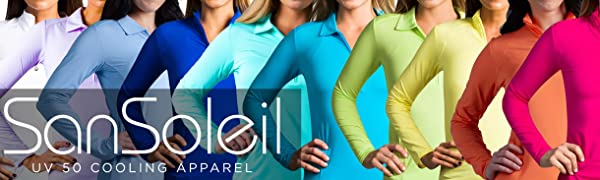 SanSoleil UV 50 Cooling Apparel for Golf and Tennis