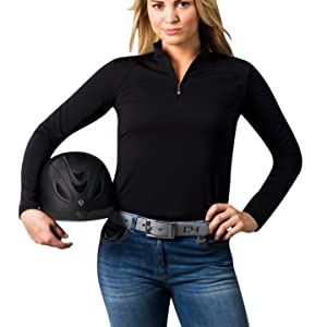 Long Sleeve UV 50 Cooling Tops for Golf, Tennis, and Sports. Perfect sun protection SanSoleil.