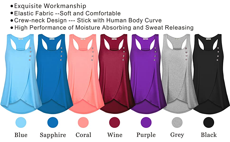 womens workout tank top casual tunics