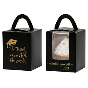 black cupcake box