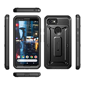 Supcase Unicorn Beetle Pro Holster Rugged Bmper Case with Screen Protector for Google Pixel 3a