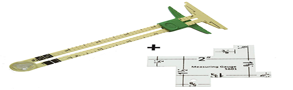 5 in 1 sliding gauge with free measuring ruler