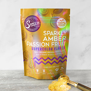 Sparkly Amber Passion Fruit Supercolor Flakes