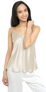 silk camisole and shorts set