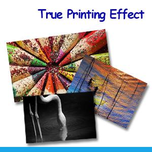 True printing effect