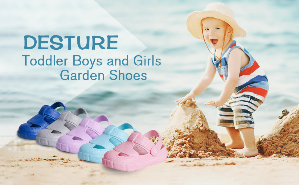 Toddler boy girls garden shoes summer beacha sandals baby kids easy on shoes outdoot