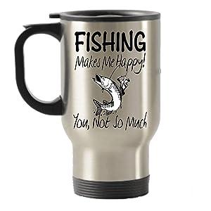 Fishing  Travel Mug