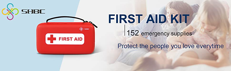 Suitable for Emergencies at Home or Outside Green Travel with All Basic or Advanced Supplies You Need Camping SHBC Waterproof First Aid Kit 228pcs Home