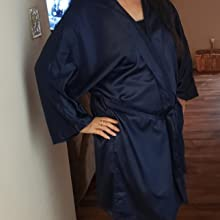 navy blue robe