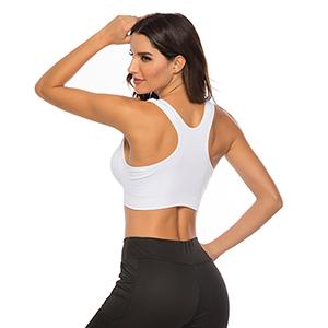 womens zip sports bra