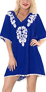 EMBROIDERED KIMONO DRESS FOR WOMEN