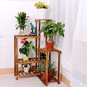 wood plant stands indoor