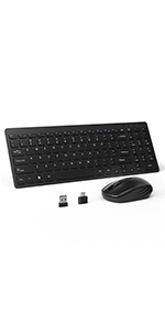 Wireless Bluetooth Keyboard and Mouse Combo