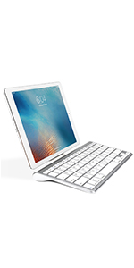 Ultra-Slim Bluetooth Keyboard with Sliding Stand
